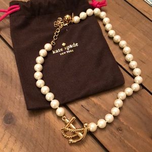 Kate Spade pearl anchor necklace